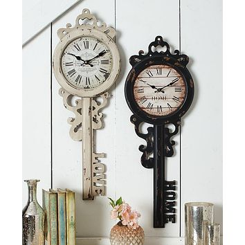 Unique Home Office Western Rustic Vintage Key Wall Clock
