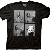 Arrested Development Buster Bluth Photo Booth Adult Black T-Shirt