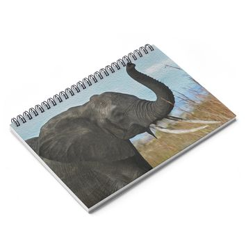 Elephant Art Inspired Spiral Notebook