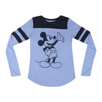 Disney Mickey Mouse Graphic Design Printed Casual Women?s T-shirt, Blue
