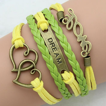 Ms multilayer woven bracelet retro bracelet sell like hot cakes fashion leather braided bracelet free shipping
