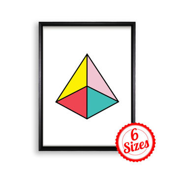 Digital Poster Print JPG Files - Pyramid - 18x24 / 11x17 / 8.5x11 / 8x10 / 5x7 / 4x6