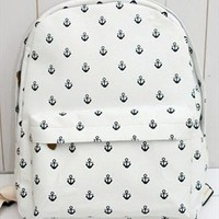Canvas Backpack with Anchor Embellishment TDC312 from topsales