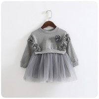 new 2016 summer 1-7 years child clothing children clothes corsage girl dress dresses baby Princess dress 15179