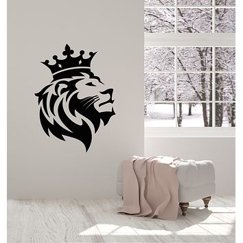 Vinyl Wall Decal African Lion King Head Predator Tribal Stickers Mural (g1536)