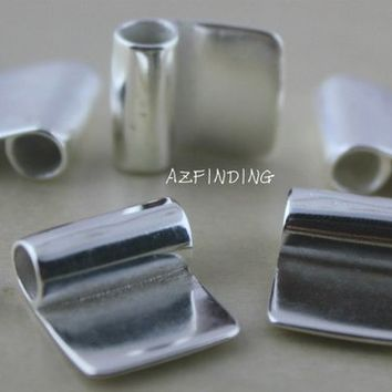 Silver Glue on Bails Silve Line Bails Pendant Bails Metal Findings DIY Kits Making Jewelry tools 3 Size Available