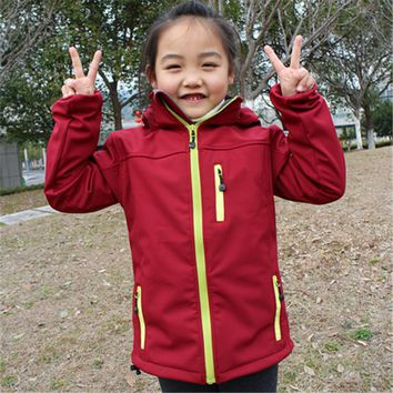 Kids Softshell Hiking Jackets Boy Girl Sport Coat Clothes For Children Outerwear Windbreaker Waterproof Costume Blazer Clothing