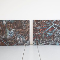 Blue Forest - Dyptich (two canvasses intended to hang side by sid | Art | Gumtree Australia Stirling Area - Tuart Hill | 1062784288