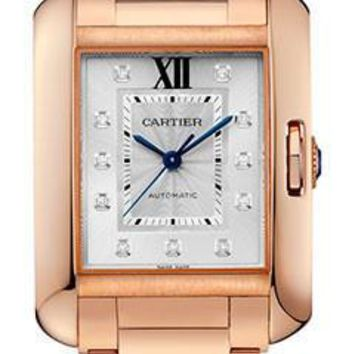 Cartier - Tank Anglaise Pink Gold With Diamonds