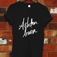 Ashton Irwin Shirt, 5SOS Shirt, 5 Second Of Summer Shirt, 5Sos Tshirt, 5Sos T Shirt, 5Sos Tee, Shirt Black or White RF-5