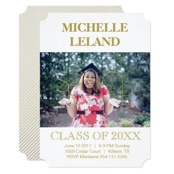 Senior Typography | Graduation Announcement