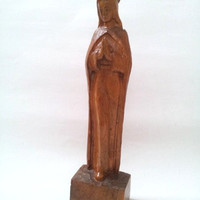 Virgin Mary statue, Virgin Mary, Religious statue, Madonna, Madonna statue, BVM, Wood carving, Wood Virgin Mary, Religious Relic, handcarved