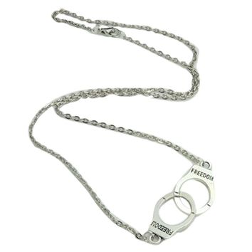 Handcuffs Collar Pendant Necklace For Woman