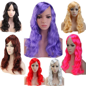 """19"""" 48cm Long Curly Wavy Cosplay Wig Synthetic"""
