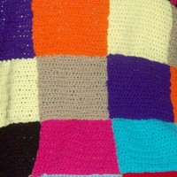 Colorful Squares Afghan