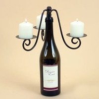 WINE bottle CANDLEABRA candle holder home decor