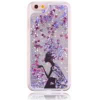 The unique bright star quicksand fashion girl Phone Case Cover for Apple iPhone 7 7 Plus 5S 5 SE 6 6S 6 Plus 6S Plus + Nice gift box! LJ160927-005