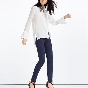 SKINNY MID - RISE TROUSERS-View All-TROUSERS-WOMAN | ZARA United States