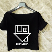The Neighbourhood Crop Tee shirt Women color black and White TO97