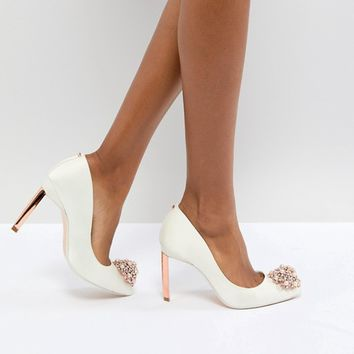 Ted Baker Tie The Knot Peetch Embellished Bridal Shoes at asos.com