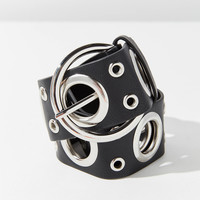 Wide Grommet O-Ring Buckle Belt   Urban Outfitters