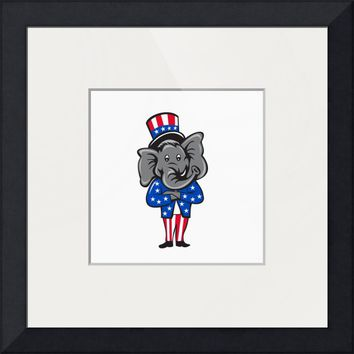 """Republican Elephant Mascot Arms Crossed Standing C"" by Aloysius Patrimonio"