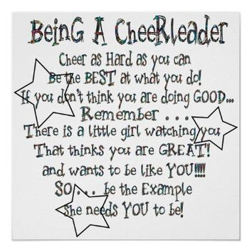 Being a Cheerleader Poster from Zazzle.com