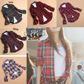 Women's Soft Bamboo Fiber Flannel Shirt or Cardigan