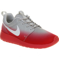 Nike Roshe Run Base Grey Geranium Red Fade Exclusive - Hers trainers