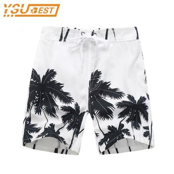 Summer Children Board Shorts Boys Casual Swimming Trunks Kids Clothing Fashion Style Quick Drying Liver Short Coconut Trees