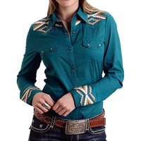 Stetson Embroidered Western Shirt - Snap Front, Long Sleeve (For Women)
