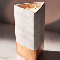 Paddywax Triangular Concrete Candle | Urban Outfitters