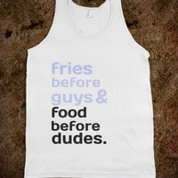 FOOD AND DUDES.