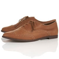 MATHS Tan Leather Brogues - Flats  - Shoes