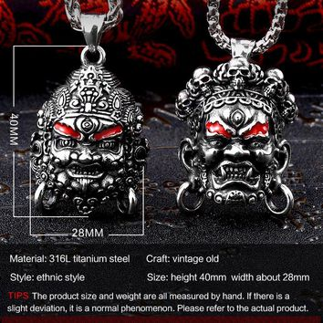 Steel soldier new 2018 arrival Asia Buddha design pendant necklace stainless steel unique punk popular jewelry fortune gift