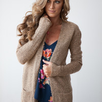 Winter Daze Cozy Cardigan - Mocha