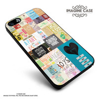 R5 Lyrics and Quotes collage case cover for iphone, ipod, ipad and galaxy series