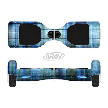 The Blue and Green Tye Dyed Wood Full Body Skin Set for the Smart Drifting SuperCharged Transportation iiRov