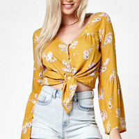 Billabong Forget Me Knot Long Bell Sleeve Top at PacSun.com