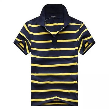 Men's cotton shirt Casual Stripes Polos summer top fashion brand polo shirt men jersey classic Camisa Polo Chemise Homme