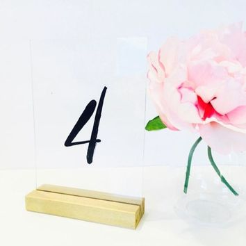 Gold Table Number Holders ,  Gold Table Number Holders ( 5 inch) Set of 10