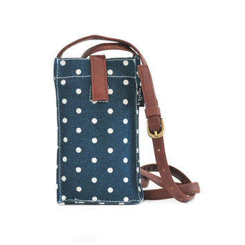 Dots Navy Mini Crossbody