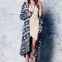 Free People Check This Pattern Maxi Cardigan