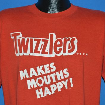 80s Twizzlers Makes Mouths Happy t-shirt Large