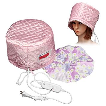 LUCKYFINE Hair Thermal Steamer Treatment SPA Cap Nourishing Care Hat New Beauty Steamer Nourishing Hat 23 x 17cm