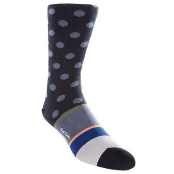 Paul Smith Accessories Black Spot and Stripes Socks