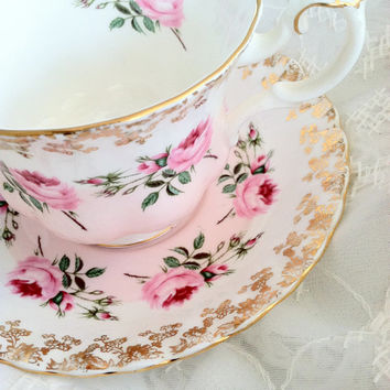 Vintage Royal Albert Tea Cup and Saucer Montrose Shape/Cottage Style/Bridal Gift