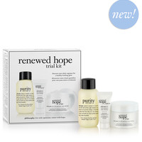 renewed hope in a jar | trial kit | philosophy