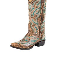 Stetson Vinage Womens Cowboy Boots-Snip Toe