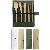 7-Piece Bamboo Flatware Set - Great Gift Idea